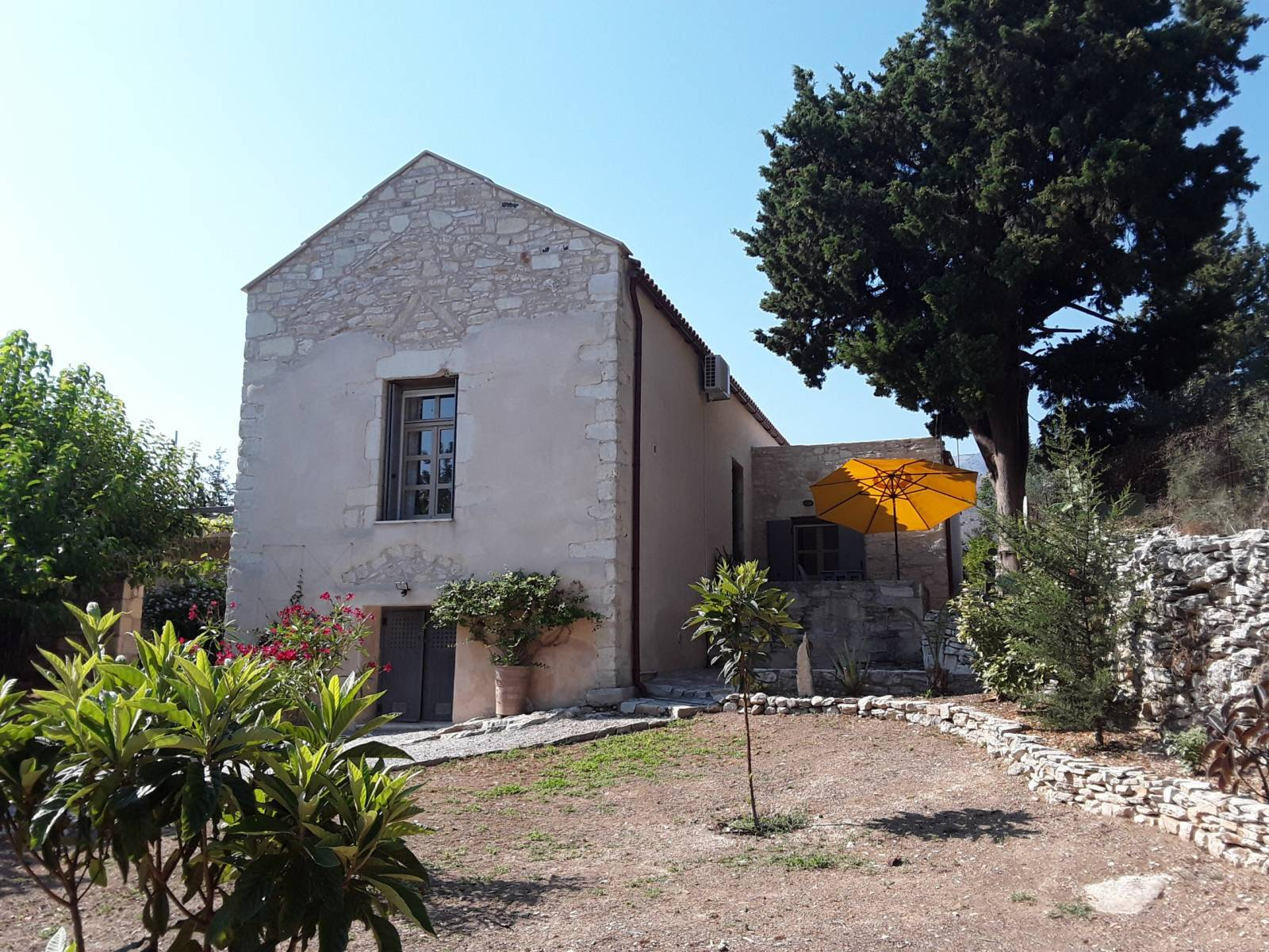 Unique cretan stone farmhouse