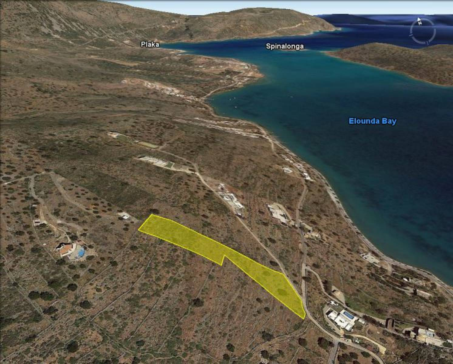 Plot near Elounda sandy beach
