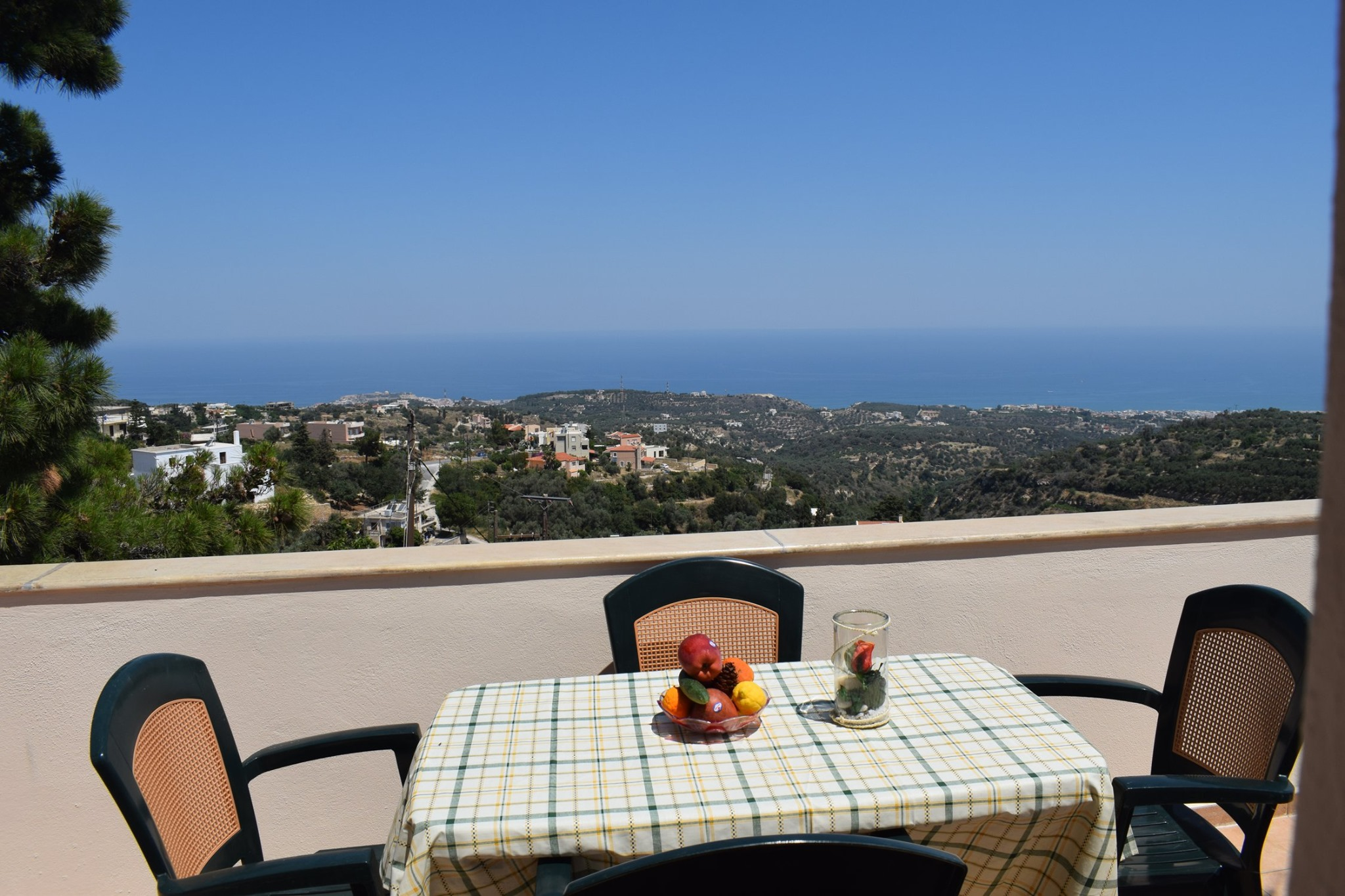 Renovated maisonette with fantastic sea view in Roussospiti